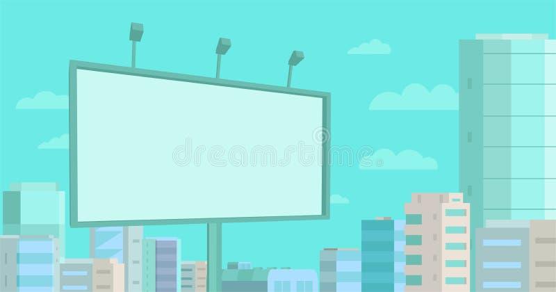在街道上的广告牌 做广告室外 您的广告在城市 库存例证