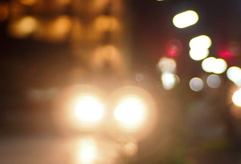 在街道上的柔光 免版税库存照片
