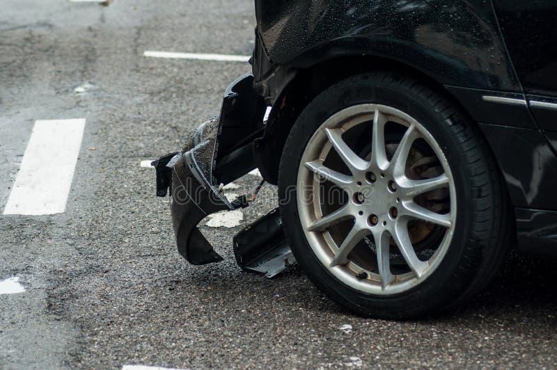 在街道停车场被碰撞的 图库摄影