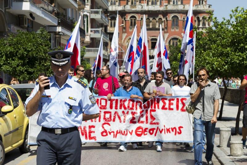 在街道召集的抗议者 出席1500抗议 库存照片