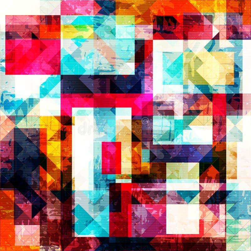 在街道画样式的几何抽象颜色样式 质量您的设计的传染媒介例证 库存例证