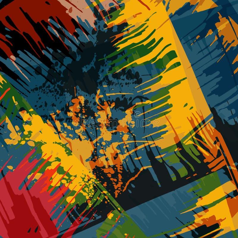 在街道画样式质量例证的抽象颜色样式您的设计的 库存例证