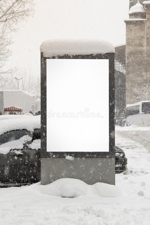 在街道的广告牌 免版税库存图片