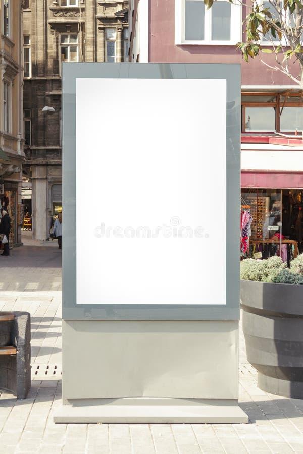 在街道的广告牌 免版税图库摄影