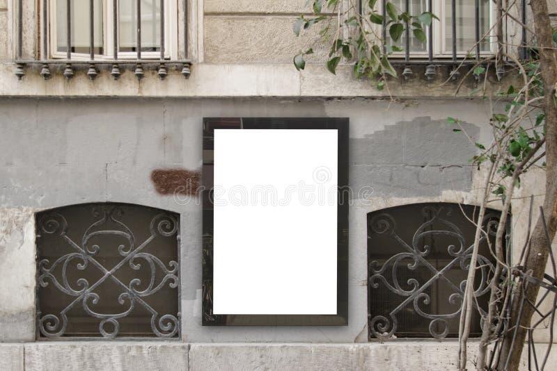 在街道的广告牌 库存图片