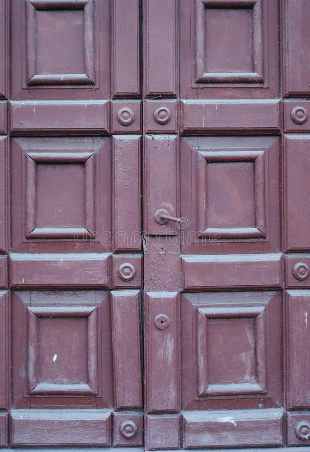 在街道的Texure门 免版税库存照片