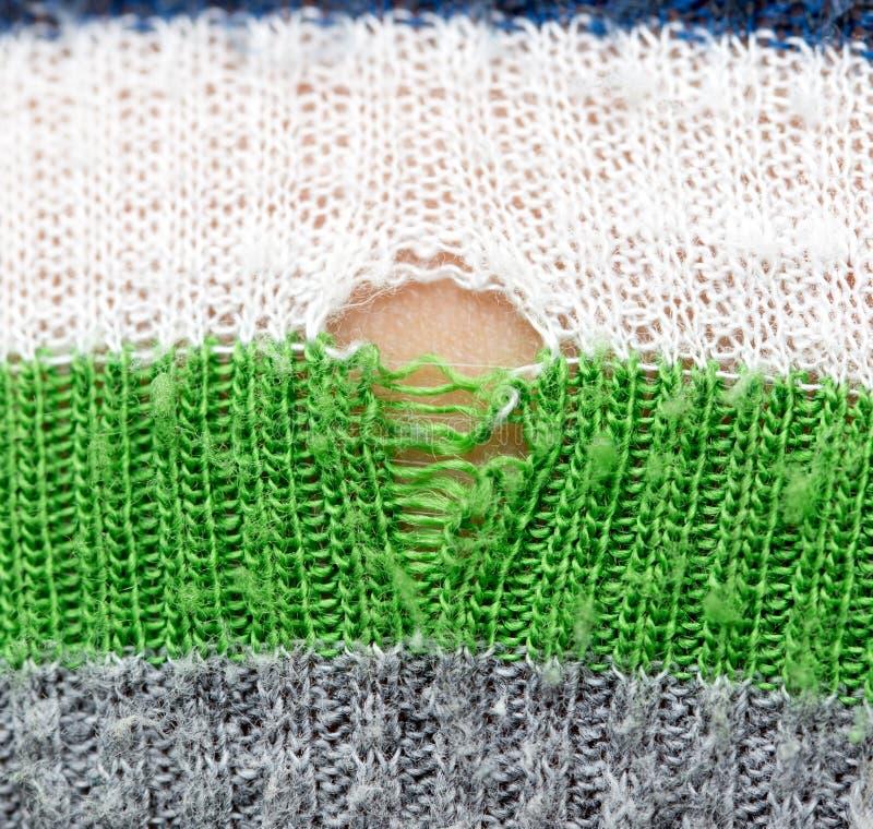 在衣裳的孔作为背景 免版税库存照片