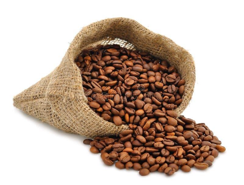 在袋子的咖啡豆 库存图片
