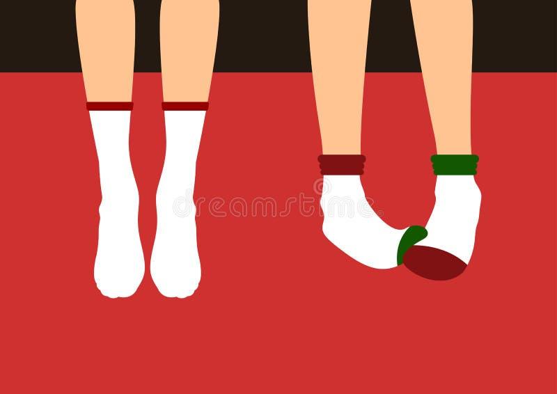 在袜子传染媒介例证的腿 库存例证