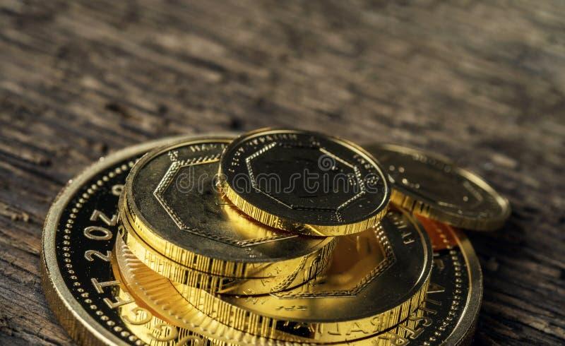 一些枚金币精致999 9 免版税库存照片