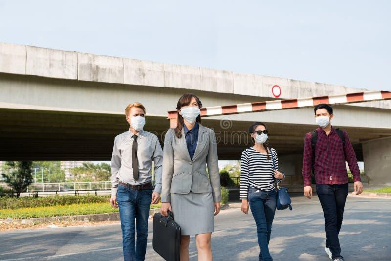 在被污染的城市 库存照片