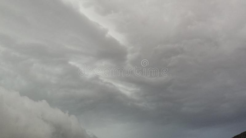 在被熔铸的天空 免版税库存照片