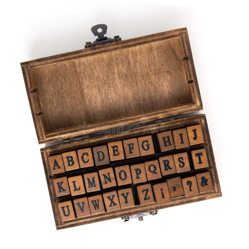 在被盖印的木头上写字 库存图片