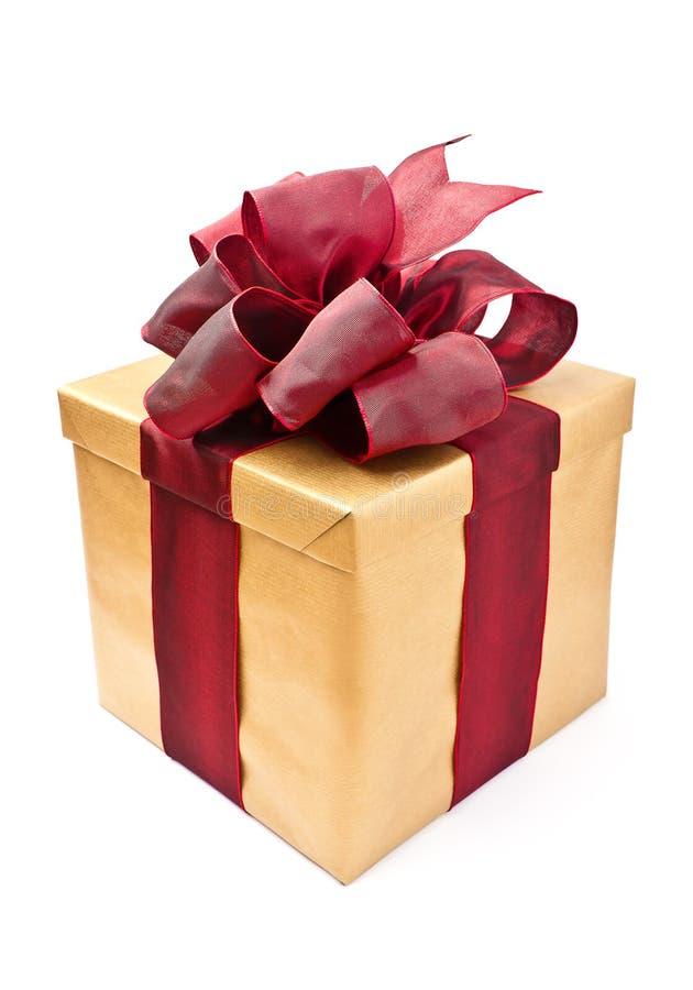 在被看见的配件箱礼品之上 免版税库存照片