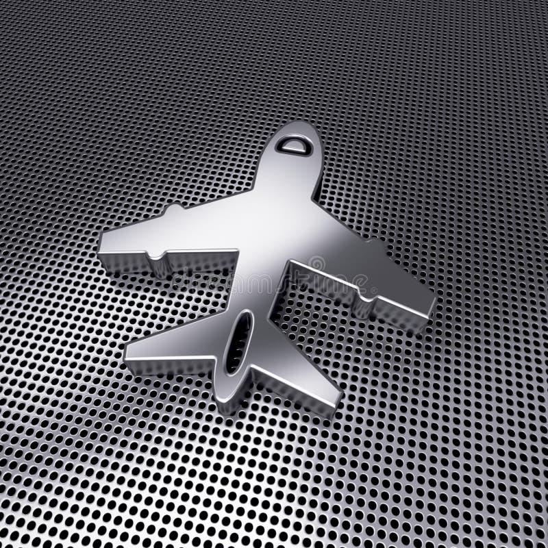 在被穿孔的金属的象钢飞机 皇族释放例证