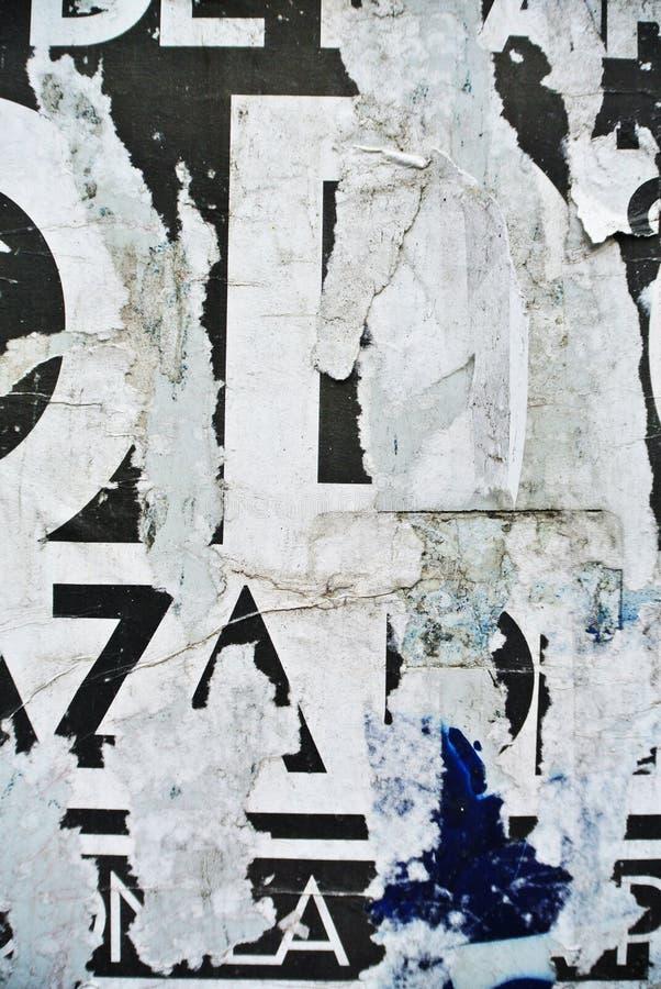 在被腐蚀的墙壁上的任意拼贴画纹理横幅 库存图片