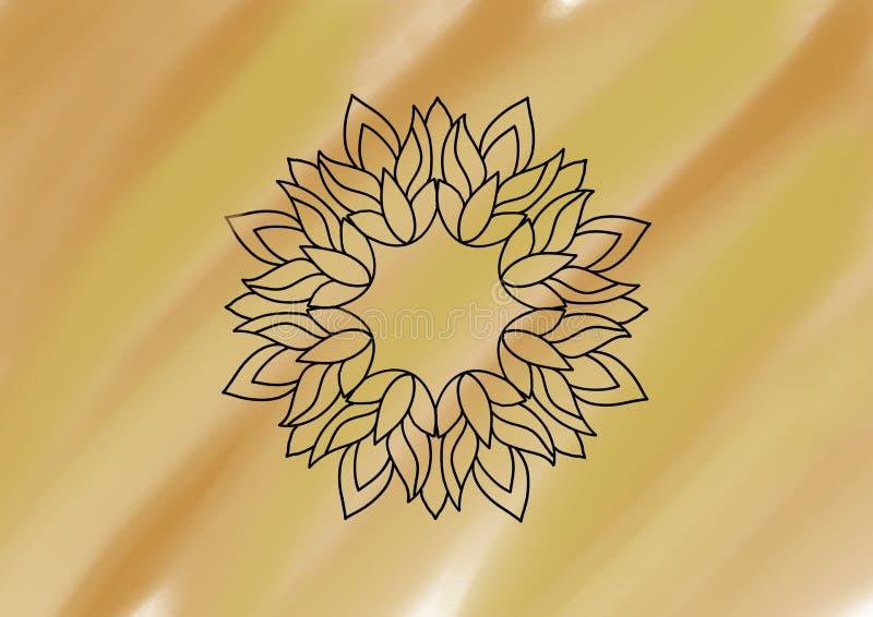 在被遮蔽的橙色背景的花卉样式 皇族释放例证