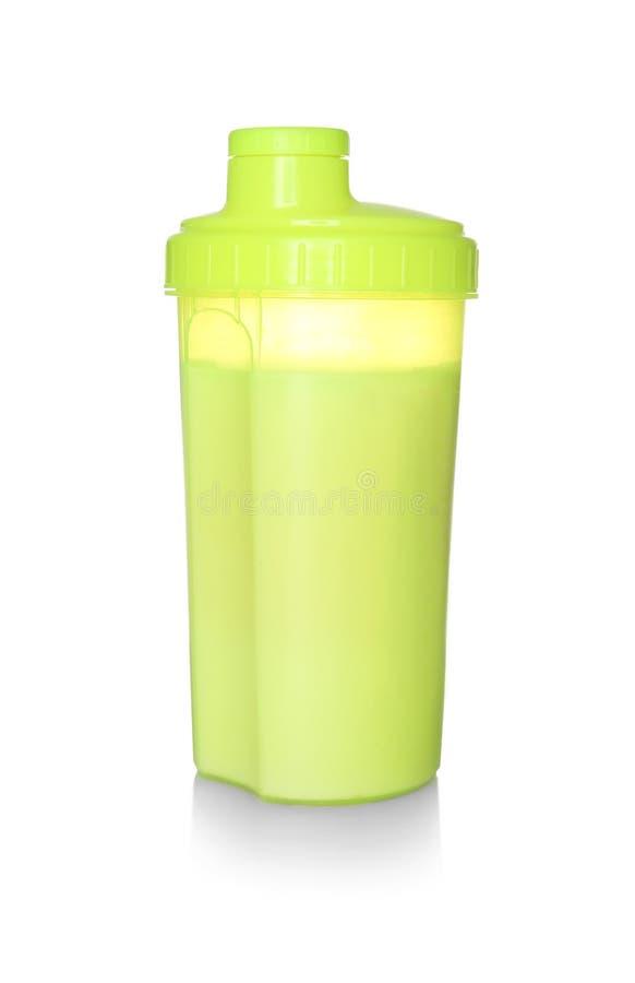 在被隔绝的体育瓶的蛋白质震动 库存照片