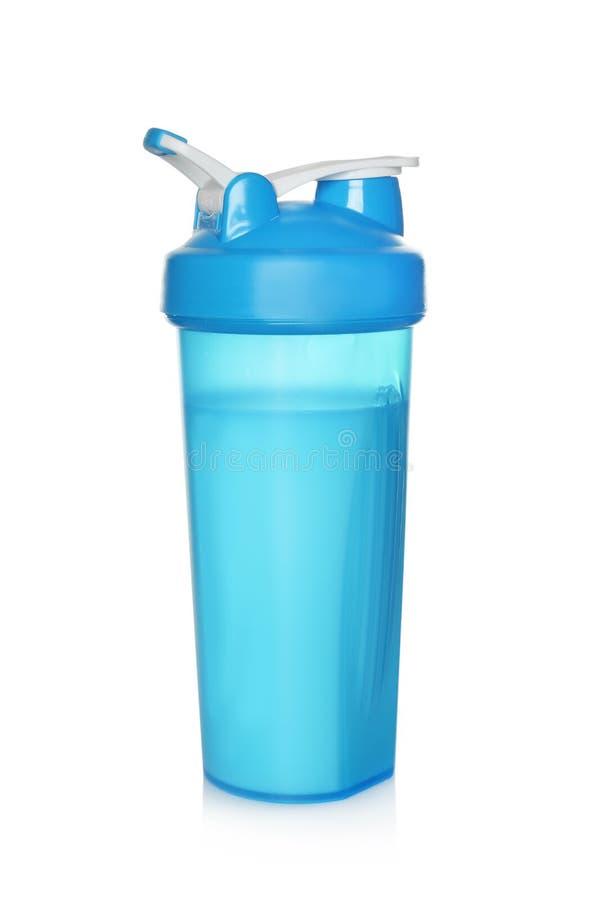 在被隔绝的体育瓶的蛋白质震动 库存图片