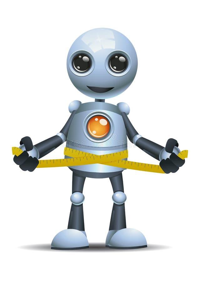 在被隔绝的白色背景的一点机器人测量的腰部 皇族释放例证