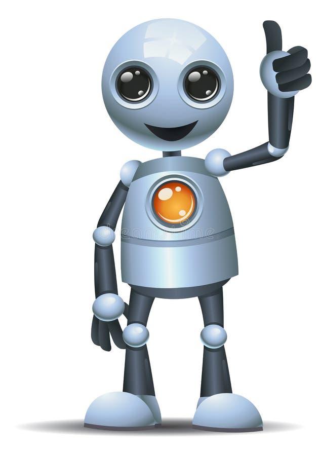 在被隔绝的白色背景的一点机器人赞许 皇族释放例证