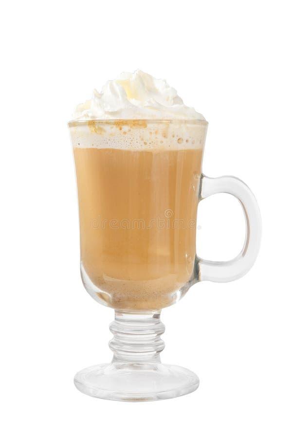 在被隔绝的白色背景的咖啡饮料 图库摄影