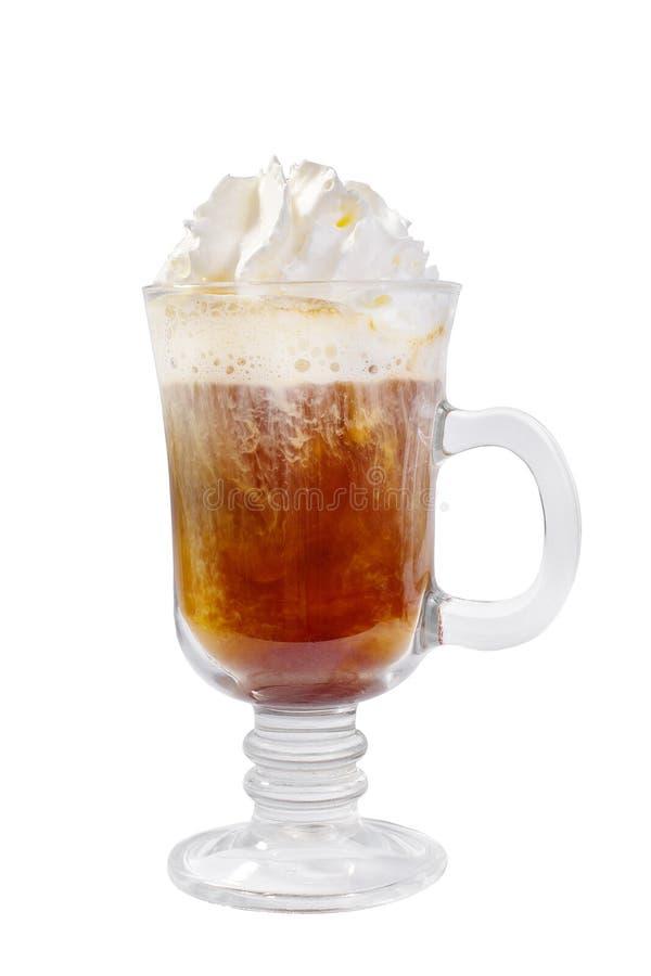 在被隔绝的白色背景的咖啡饮料 库存图片