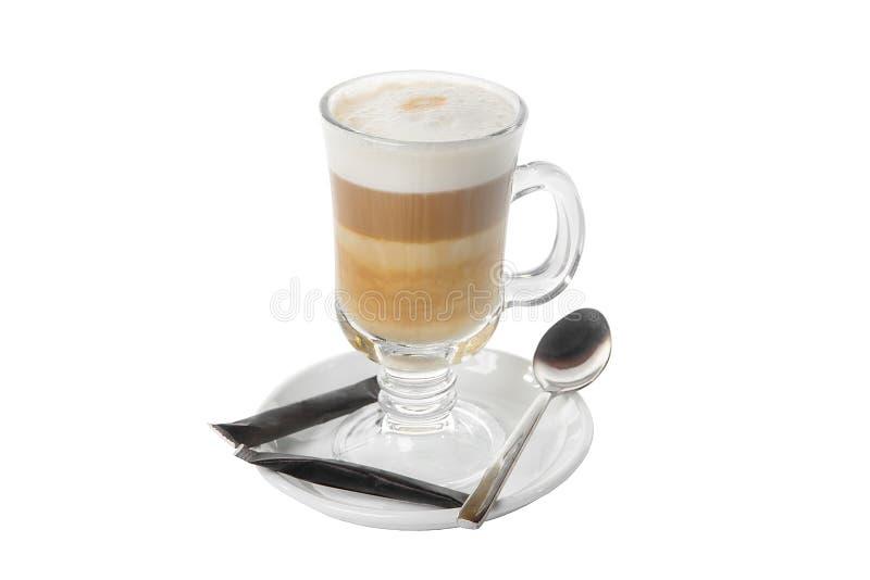 在被隔绝的白色背景的咖啡饮料 免版税图库摄影