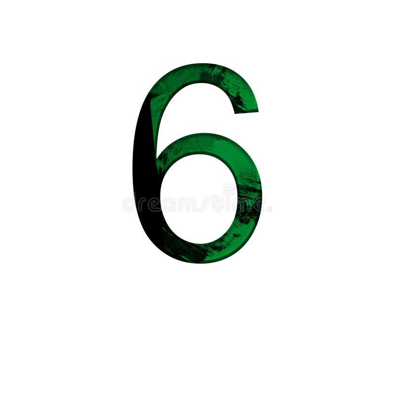 在被隔绝的白色背景的第6例证 抽象绿色字母表标志 r 库存例证