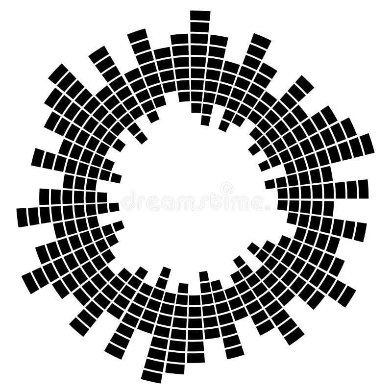 在被隔绝的背景的抽象音乐调平器 您设计新例证自然向量的水 向量例证