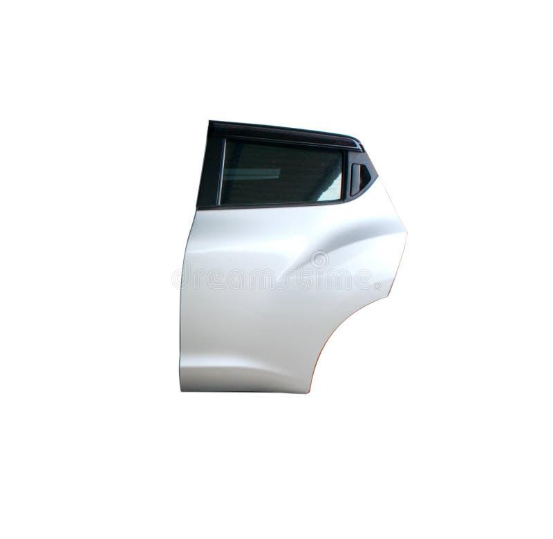 在被隔绝的背景的汽车后门 免版税库存图片