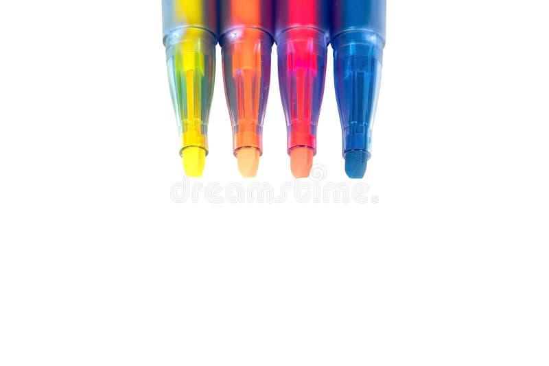 在被隔绝的背景的记号笔集合 生动的轮廓色_和bla 图库摄影