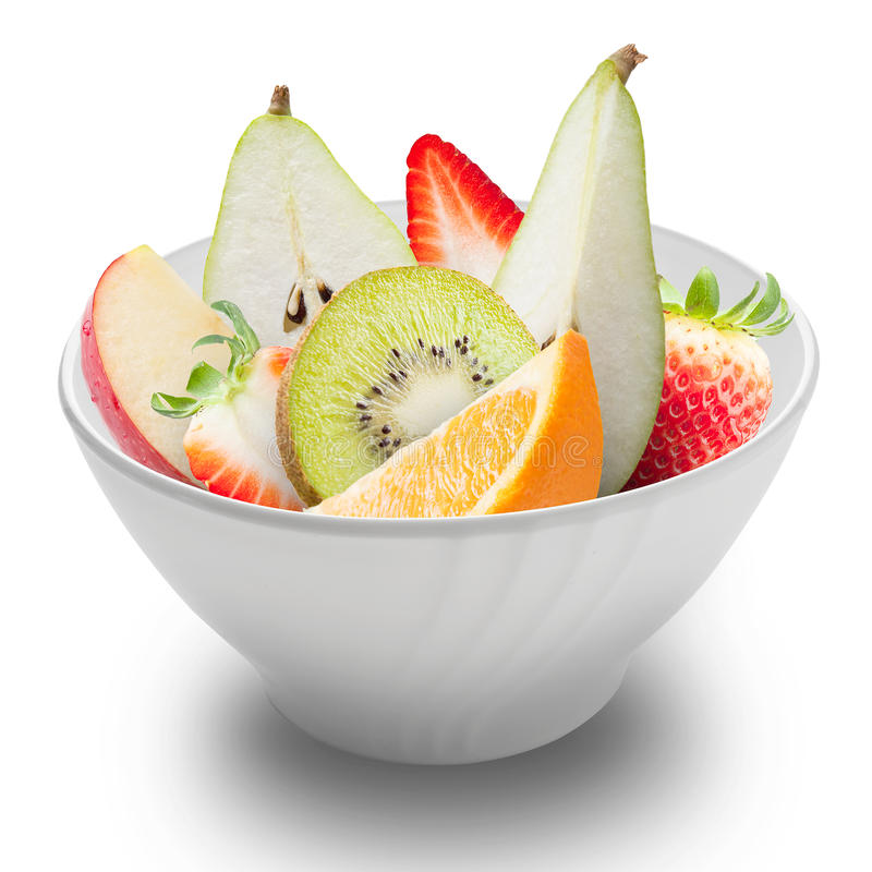 Download 在被隔绝的一个白色碗的新鲜水果 库存照片. 图片 包括有 弯脚的, 维生素, 沙拉, 制动手, 葡萄, 美食 - 30335624
