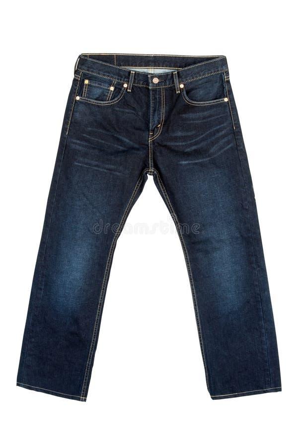 在被隔绝的白色背景的牛仔裤 库存照片