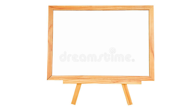 在被隔绝的白色背景的自然松木白板 免版税库存图片