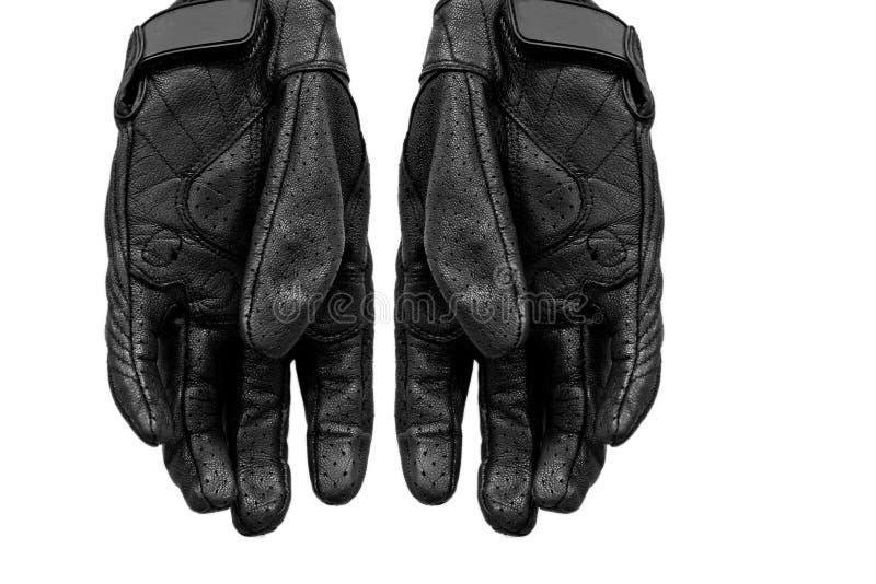 在被隔绝的背景的皮手套 库存照片
