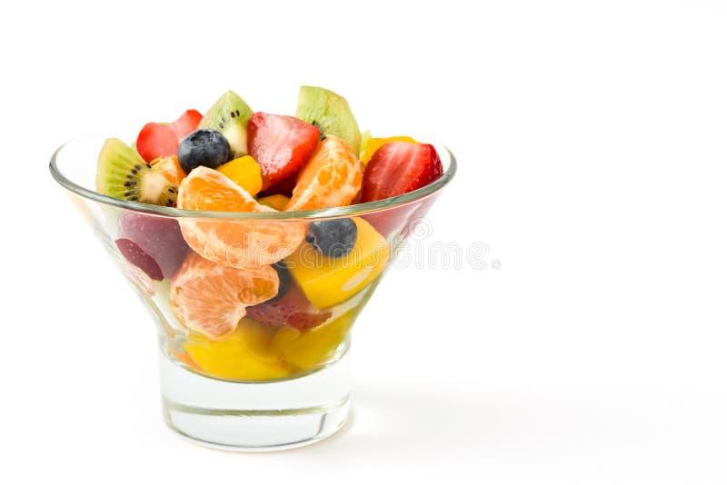 在被隔绝的水晶碗的水果沙拉 免版税图库摄影