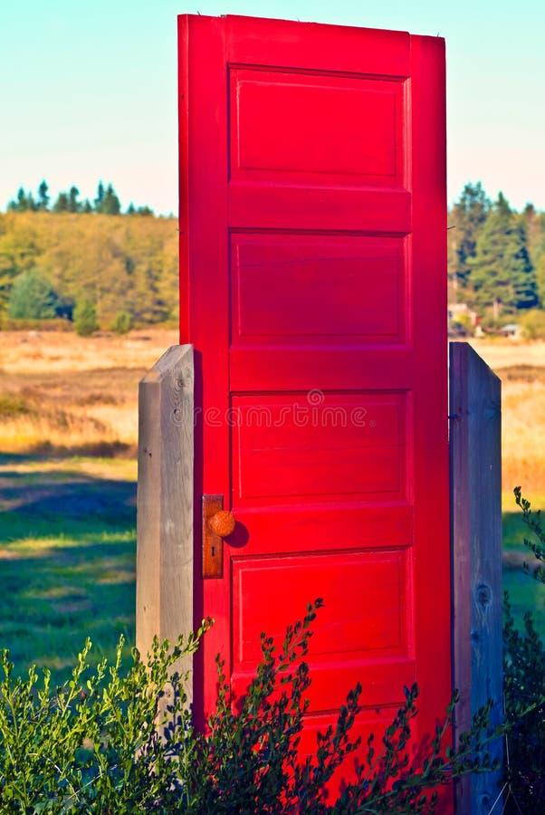 在西北部的红色门 免版税库存图片