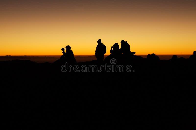 在西奈山,埃及的日出 库存图片