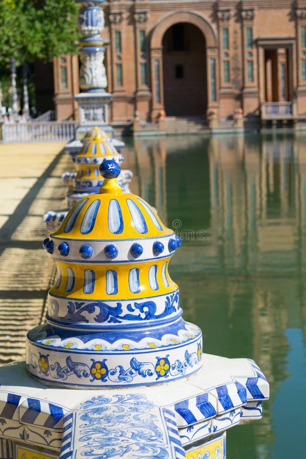 在西班牙广场的陶瓷 图库摄影
