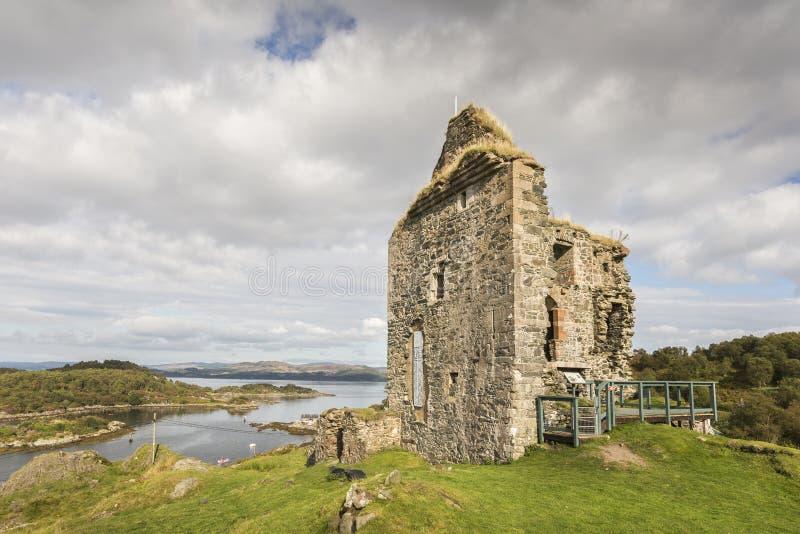 在西部Argyll的塔伯特城堡 库存图片