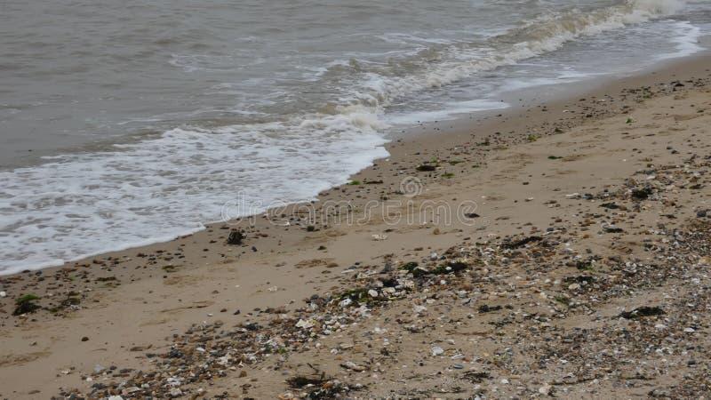 在西部Mersea,艾塞克斯,英国5的海滩 库存图片