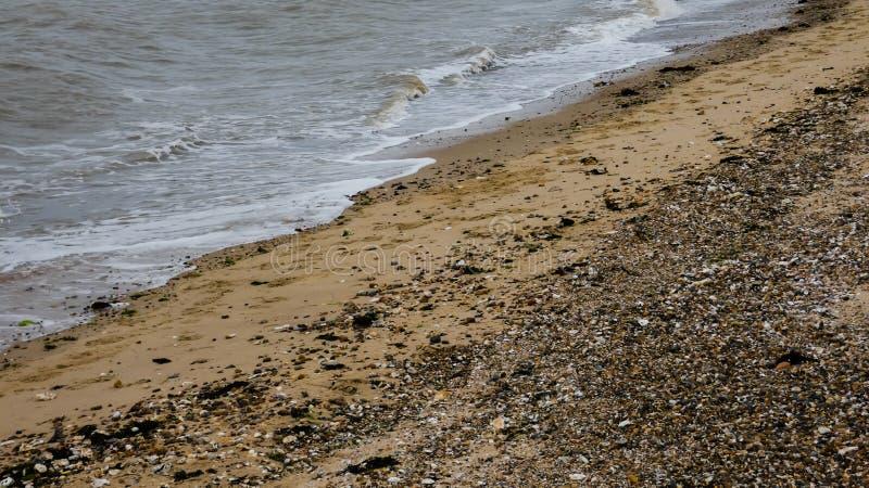 在西部Mersea,艾塞克斯,英国6的海滩 图库摄影
