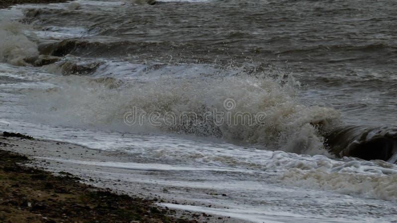 在西部Mersea,艾塞克斯,英国12的海滩 图库摄影