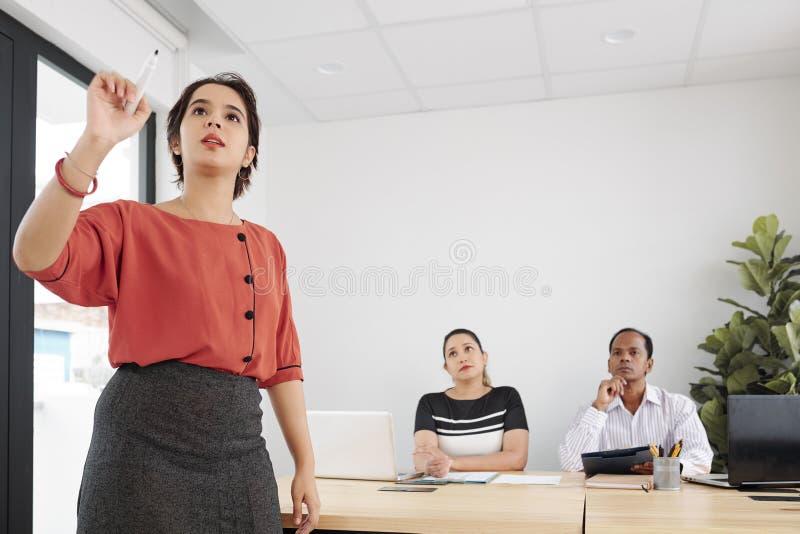 在见面的业务会议 免版税库存照片