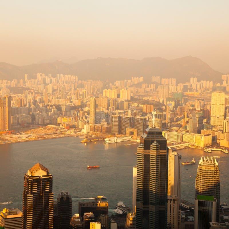 在视图的香港 库存照片