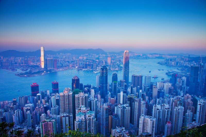 在视图的香港 库存图片