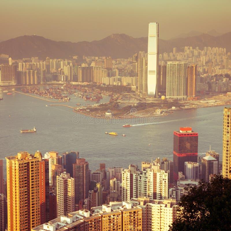 在视图的香港 免版税库存照片