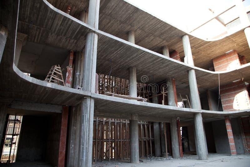 在视窗之下的背景黑色楼房建筑行业行 图库摄影