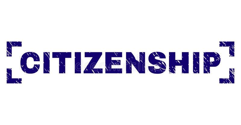 在角落之间的难看的东西织地不很细公民身份邮票封印 库存例证